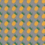 传染媒介无缝的样式用果子菠萝 库存照片