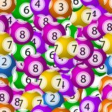 传染媒介无缝的样式,抽奖球背景,混乱五颜六色的元素背景,明亮的颜色 皇族释放例证