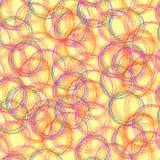 传染媒介无缝的样式:杂文圈子,五颜六色的背景模板 库存例证