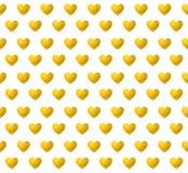 传染媒介无缝的样式:金黄心脏 库存例证