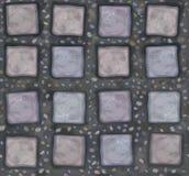 传染媒介无缝的纹理灰色石头 库存图片