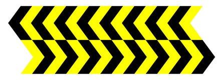 传染媒介无缝的黄色黑箭头 库存例证