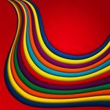 传染媒介明亮的五颜六色的波浪背景 免版税库存照片