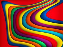 传染媒介明亮的五颜六色的波浪背景 皇族释放例证