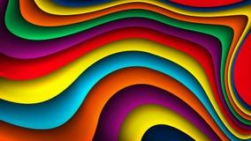 传染媒介明亮的五颜六色的波浪背景 库存例证