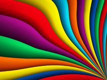 传染媒介明亮的五颜六色的波浪背景 免版税库存图片