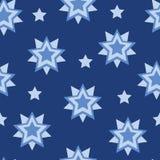 传染媒介星形状几何无缝的样式 库存例证