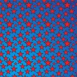 传染媒介星背景样式蓝色红色 皇族释放例证