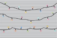 传染媒介有五颜六色的灯的假日诗歌选在镶边背景 皇族释放例证
