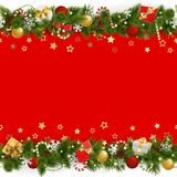 传染媒介杉木与诗歌选的圣诞节背景 库存例证