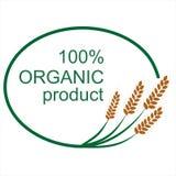传染媒介标志或标签用麦子 免版税库存图片