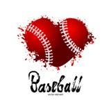传染媒介棒球 刷子字法 库存图片