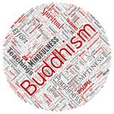 传染媒介概念性佛教,凝思,启示,因果 向量例证