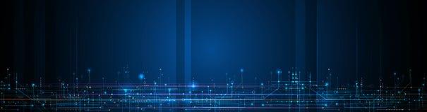 传染媒介横幅设计电路板 例证提取现代未来派,工程学,技术背景 库存例证