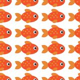 传染媒介水族馆鱼例证 五颜六色的您的设计的动画片平的水族馆鱼 鱼仿造无缝 皇族释放例证
