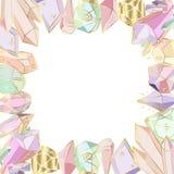 传染媒介水晶集合 皇族释放例证