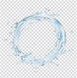 传染媒介水飞溅圈子 免版税库存图片