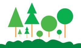 传染媒介汇集树绿色 免版税库存图片