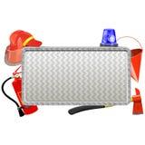 传染媒介消防队员金属板 库存例证