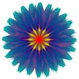传染媒介混和摘要的花,梯度作用,五颜六色的例证 库存例证