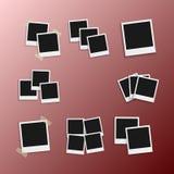 传染媒介照片框架 现实快照现代照片 立即册页Photoframe纸图片 库存图片