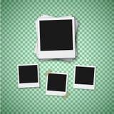 传染媒介照片 现实立即照片框架模板 免版税库存图片