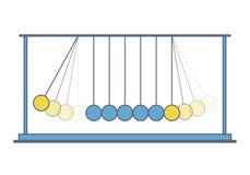 传染媒介牛顿摇摆 摆锤摇篮金属蒴 铺平主要例证 向量例证