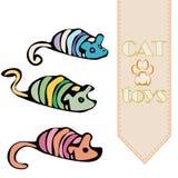 传染媒介猫` s玩具- mouses 向量例证