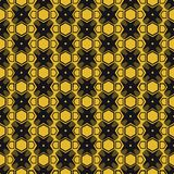 传染媒介现代几何无缝的样式 套金黄无缝的背景 免版税库存照片