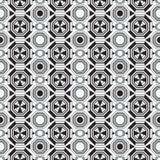 传染媒介现代几何无缝的样式 套黑白无缝的背景 免版税库存图片