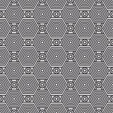 传染媒介现代几何无缝的样式 套黑白无缝的背景 免版税图库摄影
