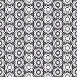 传染媒介现代几何无缝的样式 套黑白无缝的背景 库存照片