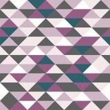 传染媒介现代无缝的五颜六色的几何三角样式,颜色抽象几何背景,枕头多彩多姿的印刷品,减速火箭 皇族释放例证