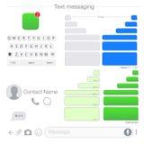 传染媒介现代sms或消息象 泡影讲话集合 正文消息UI集合 库存照片