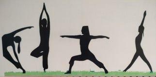 传染媒介瑜伽姿势 免版税库存图片