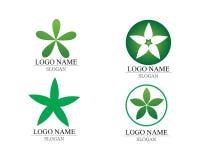 传染媒介留下绿色自然商标和标志 图库摄影