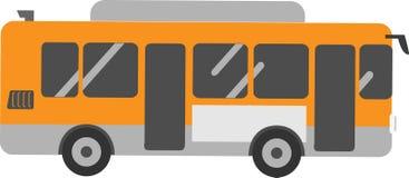 传染媒介白色背景的公共汽车乘客 皇族释放例证