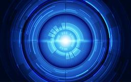 传染媒介眼睛网络安全技术在将来概念 背景画廊例证更多我 免版税库存图片