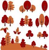 传染媒介秋天树剪贴美术 免版税库存图片