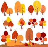 传染媒介秋天树剪贴美术 库存图片