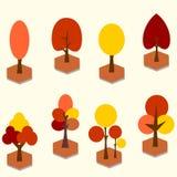 传染媒介秋天树剪贴美术 免版税库存照片