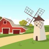 传染媒介种田农村风景的概念图象 向量例证