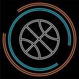 传染媒介篮子球-传染媒介篮球 皇族释放例证