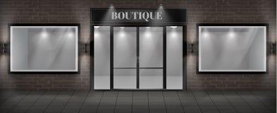 传染媒介精品店与牌的商店门面 向量例证