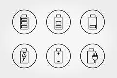 传染媒介线电池象集合 向量例证