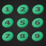 传染媒介绿色编号象 设计对象 免版税库存图片