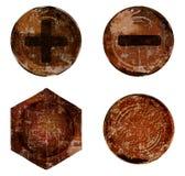 传染媒介老生锈的螺栓螺丝钉子铆钉 向量例证