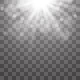 传染媒介聚光灯 光线影响 库存例证