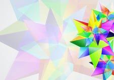传染媒介背景摘要多角形设计 免版税库存图片