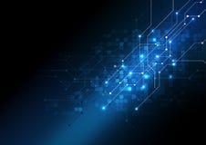 传染媒介背景摘要技术通信数据科学 免版税图库摄影